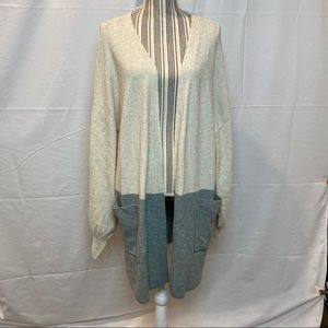 Madewell Sweaters - Madewell Colorblock Sweater Jacket XXL